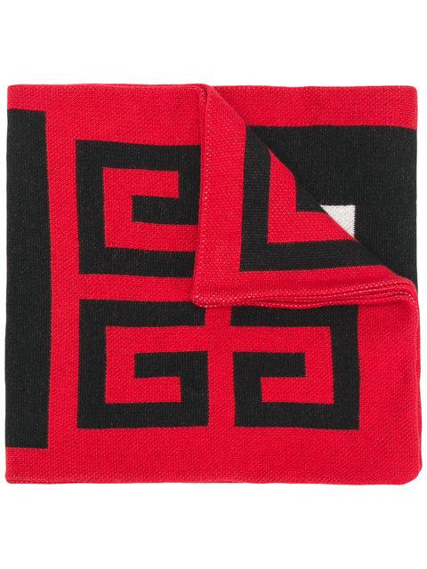 GIVENCHY<br>Schal mit Intarsien-Logo