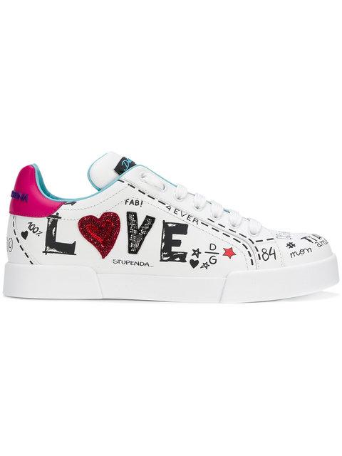 DOLCE & GABBANNA<br>LOVE graffiti sneakers
