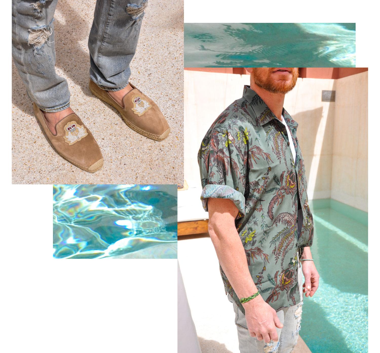 Hemd: Etro, Schuhe: Christian Louboutin