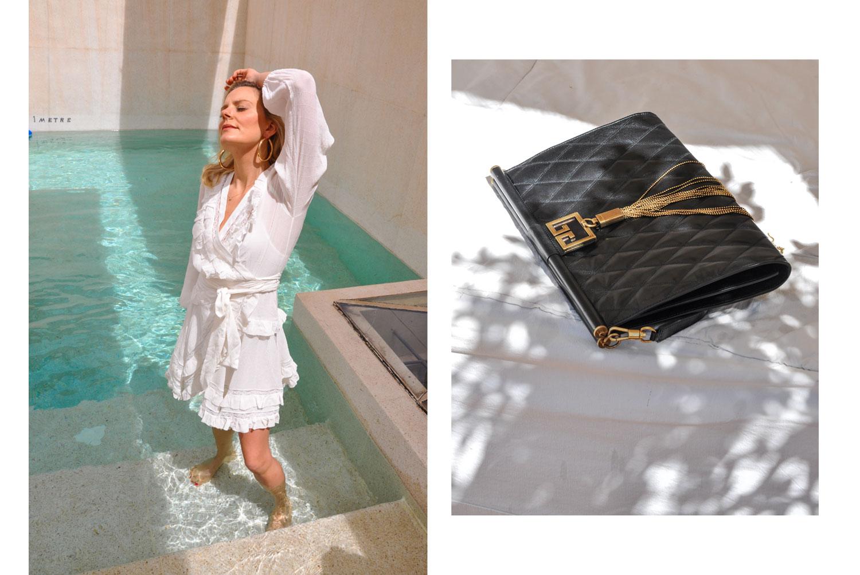 Kleid: Zimmermann, Tasche: Givenchy