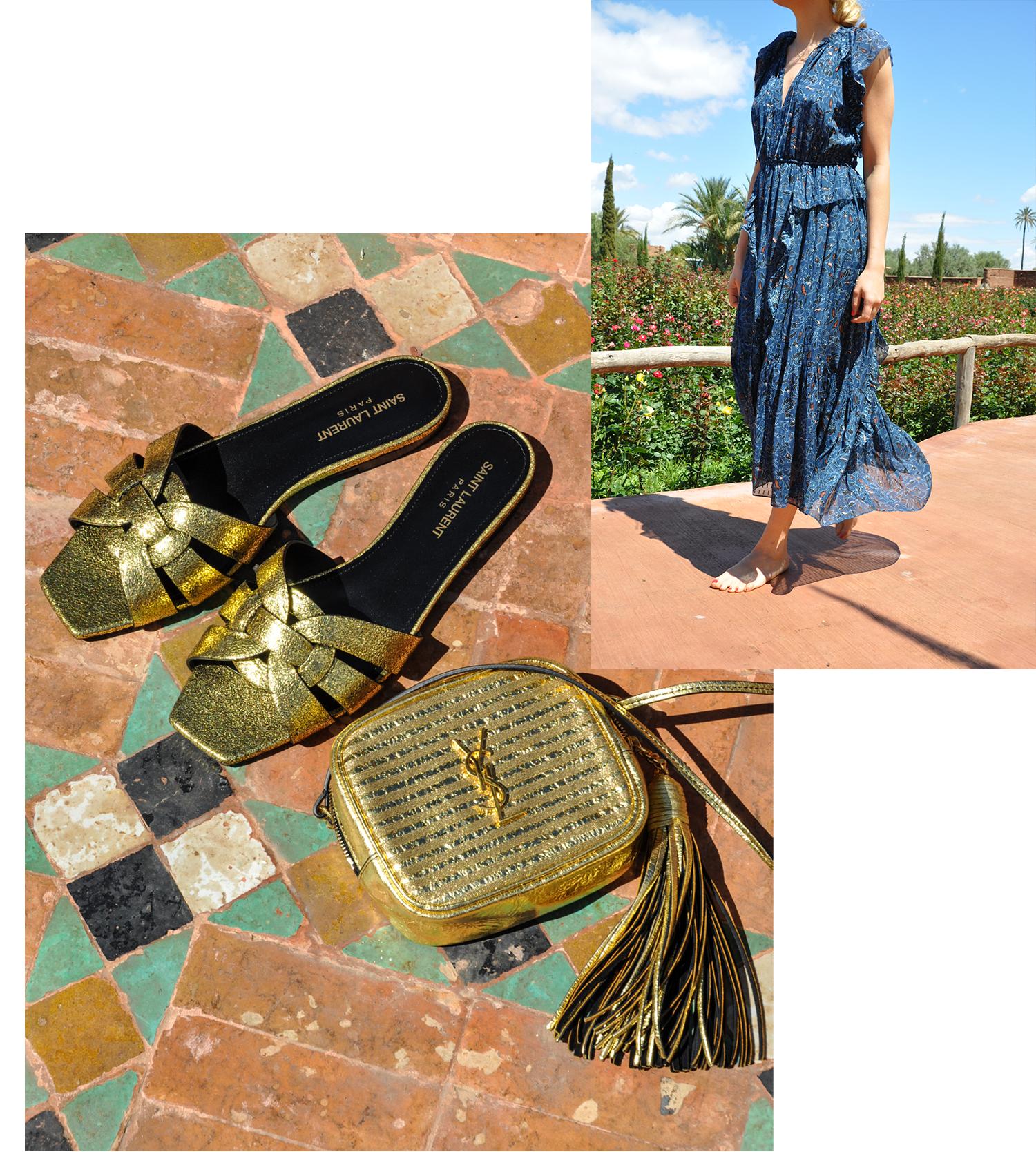 Tasche und Schuh: Saint Laurent, Kleid: Ulla Johnson