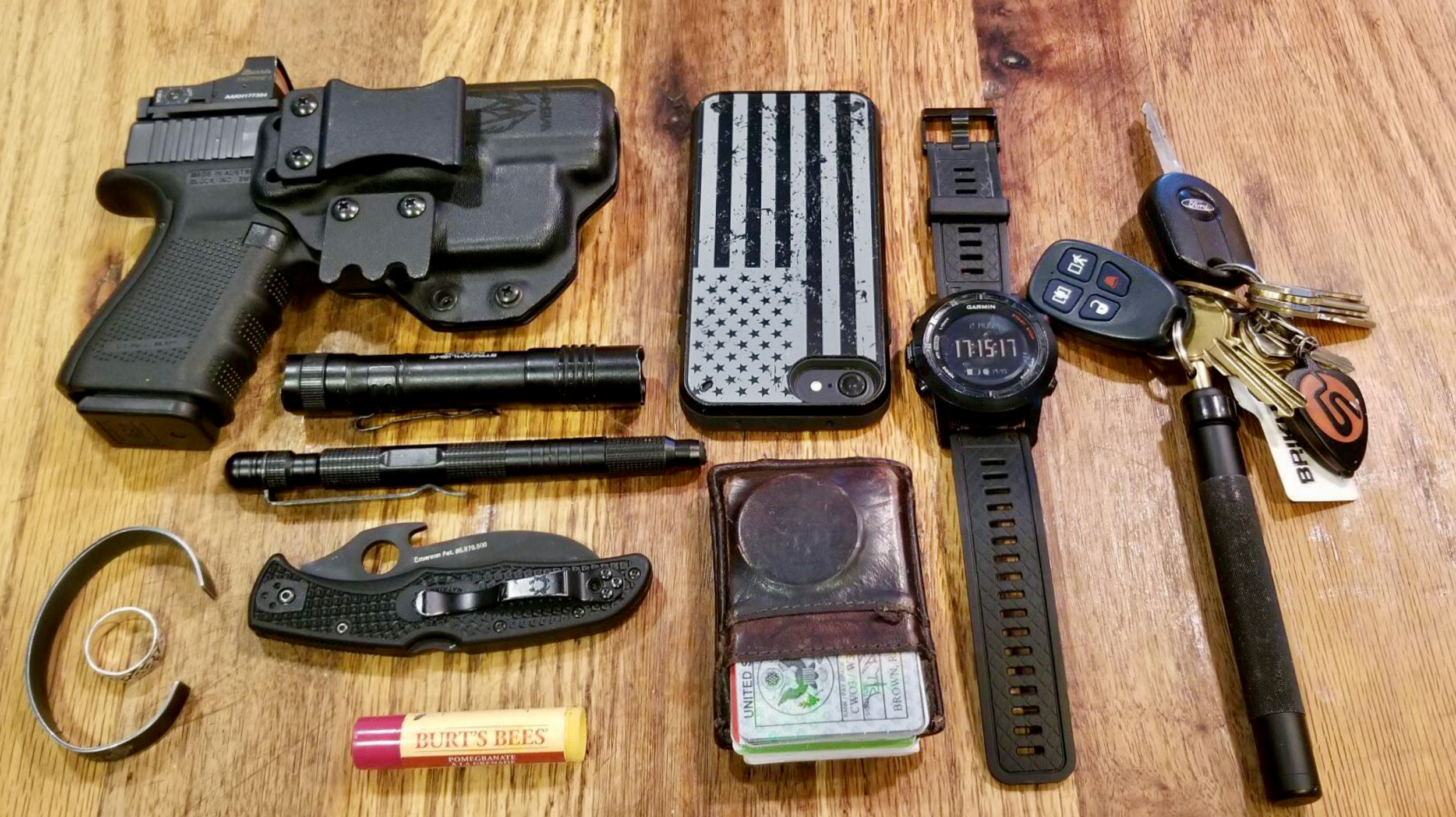 Rich's everyday carry items.