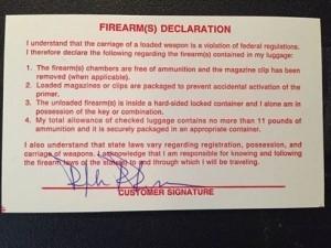 Author's Firearm Declartion