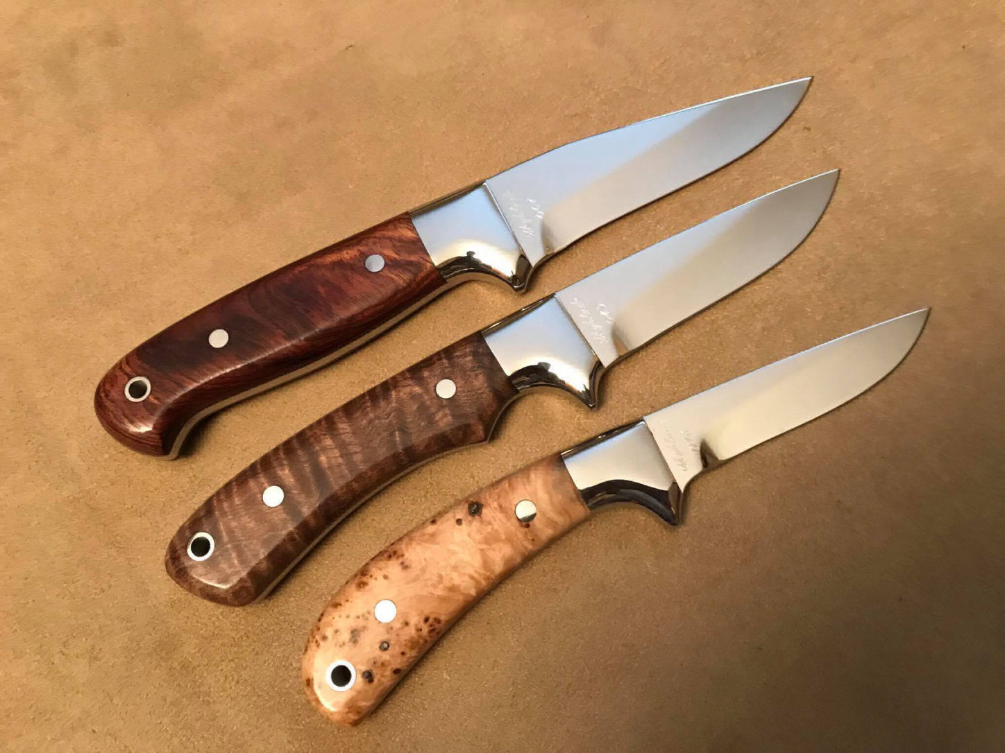 Some knives made by Todd. Find out more at  Skyblade Knives .