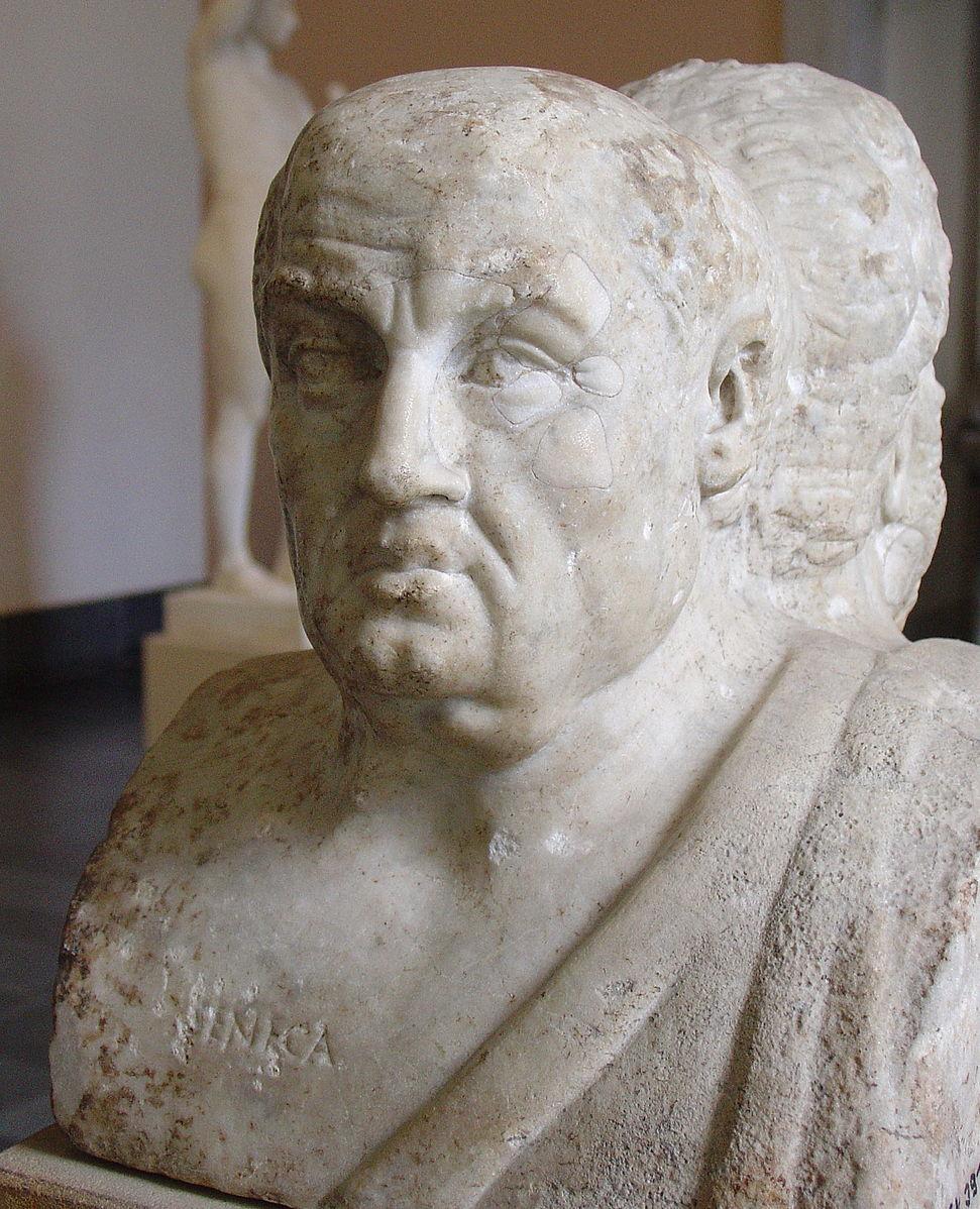 Seneca the Younger.Photo courtesy of Wikipedia.com.