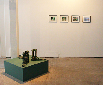 Automata used were similar to these displayed at Castlefield Gallery, Manchester.