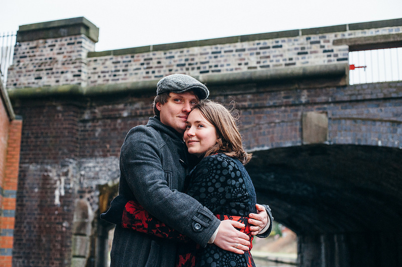 Their Engagement Photos - on the Birmingham canals