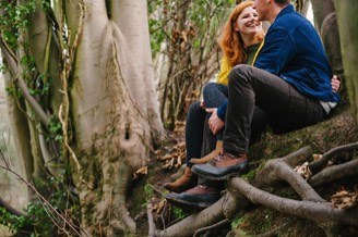 Their Engagement Photos - by the canal