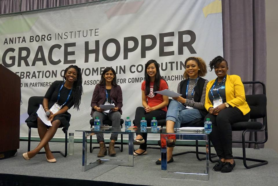 GRACE Hopper - Excelling Without Exams: Succeeding as a New GradModerator & Organizer. Selected out of 1000s of applicants to present at the Grace Hopper Celebration 2015Houston, TX. October 2015Writeup[career, professional development]Photo: private