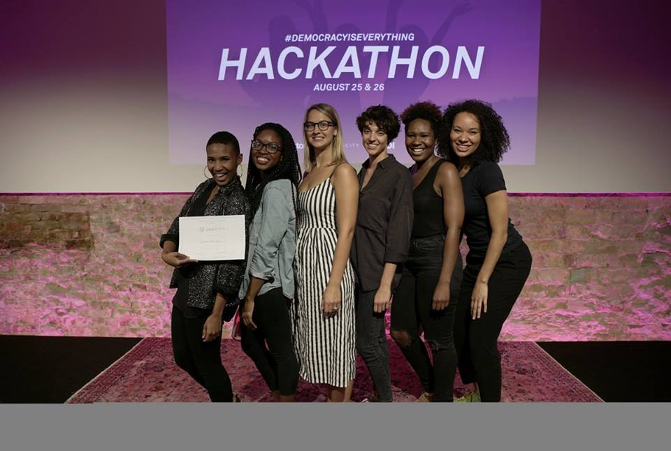 Wired MAGAZINE: Factory DEMOCRACY Hackathon - First Place out of 20 selected participantsBeyond The Vote - civic engagement platformThe Factory. Berlin, Germany. August 2017