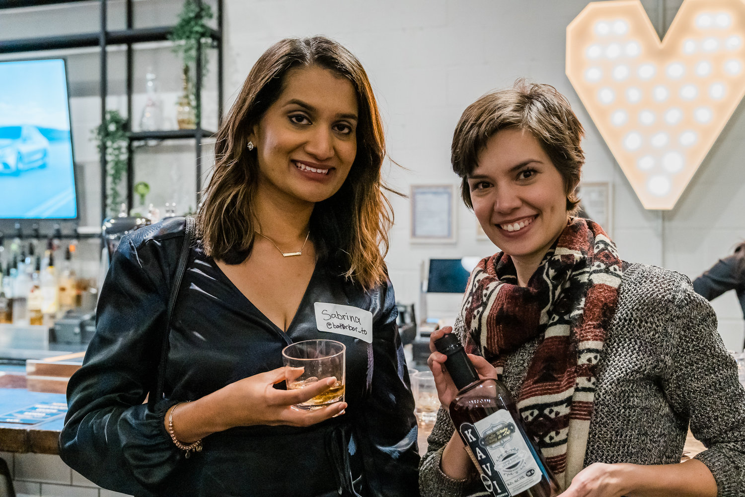 Photograph by  Shibby Photography   @shibbyphotography . Sabrina, founder of Batter Bar, with Jackie, co-founder of Kavi Whisky