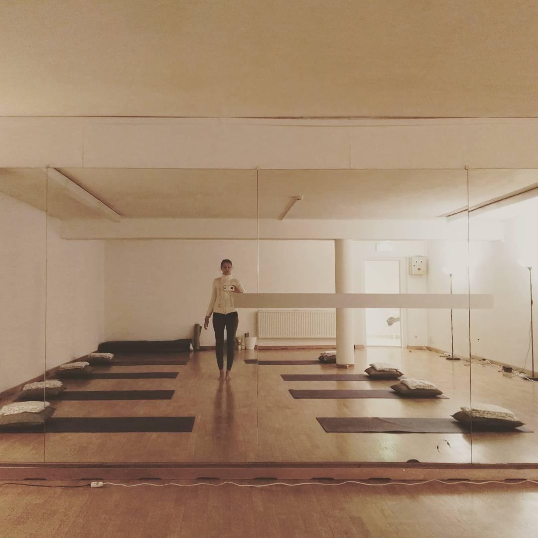 20.3.2017. Yogaraum im Hotel Weikersdorf.