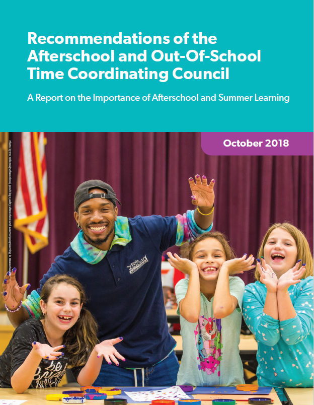 2018 Final Report - The Council Co-chairs have released their final report to the Massachusetts Legislature. The report highlights many recommendations based on discussion, research, and public input during the Council's tenure. It contains the most complete body of evidence that afterschool and summer learning are necessary for a healthy educational system.You can download the final report here.