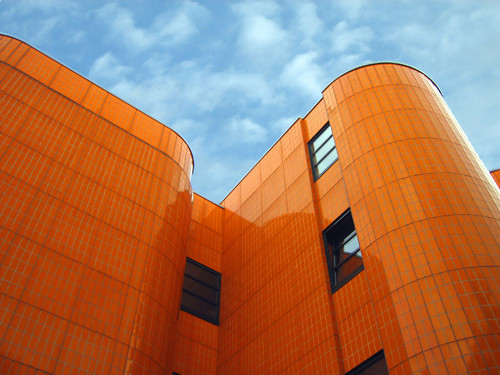 orange tile architecture