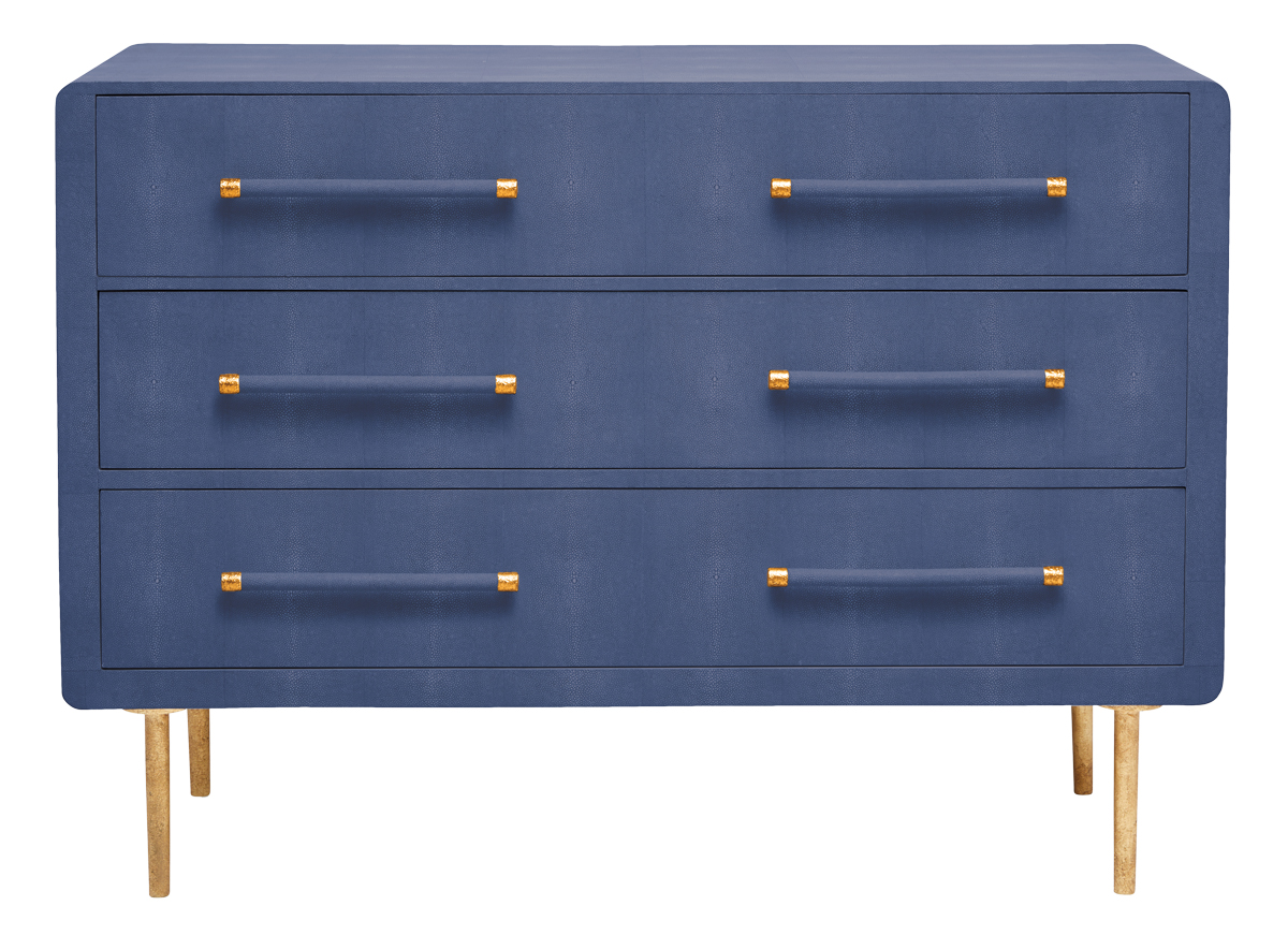 blue chest of drawer