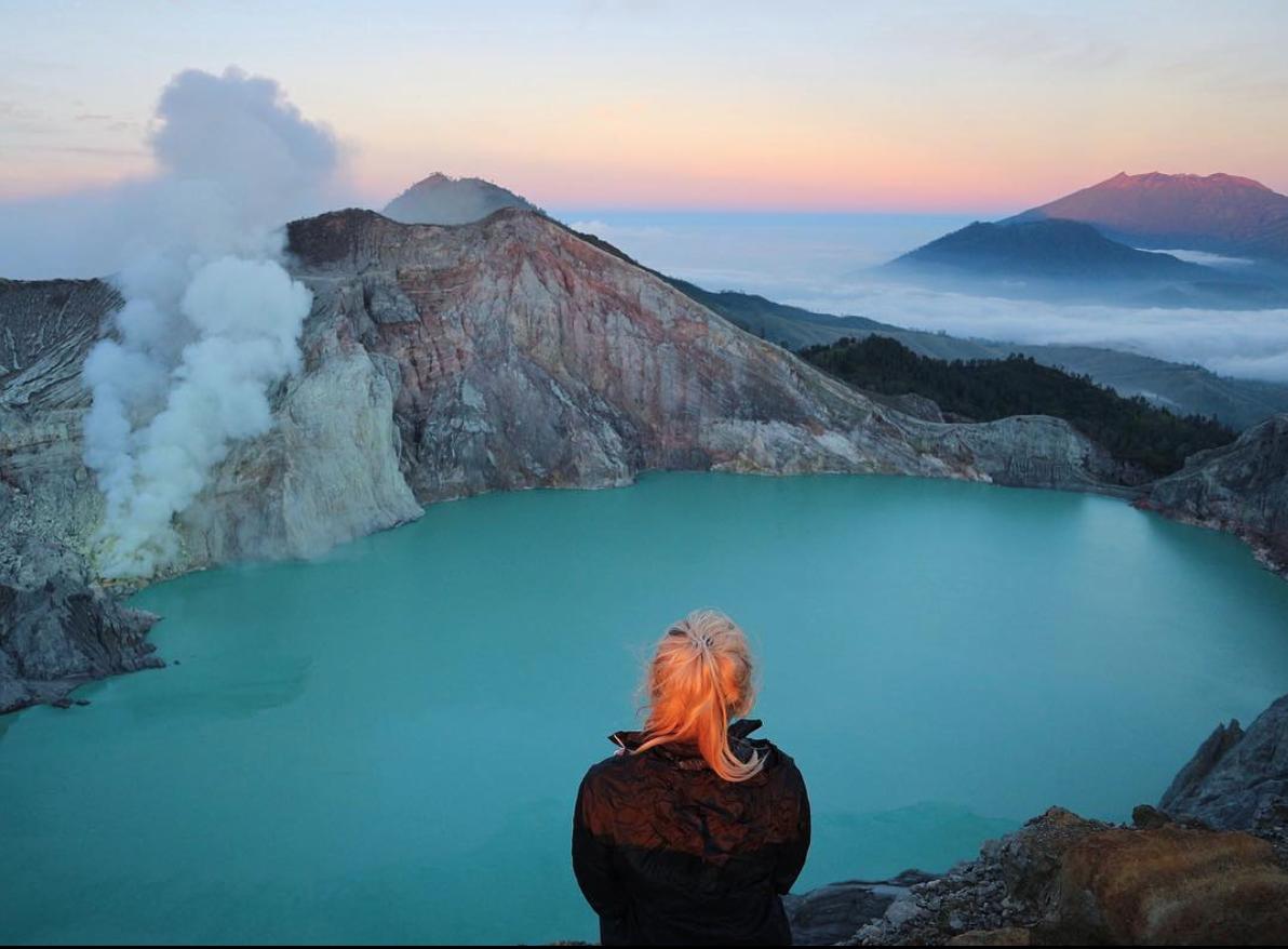 Sunrise over Mt. Ijen -  Java, Indonesia
