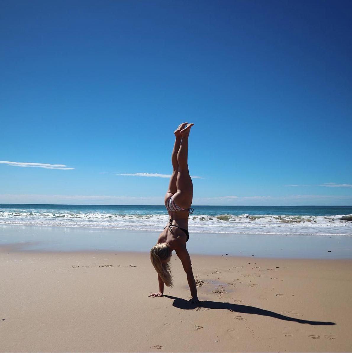 Handstands at  Rainbow Beach - Australia