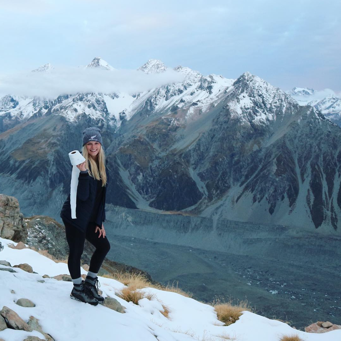 Surviving on  Mount Cook, New Zealand