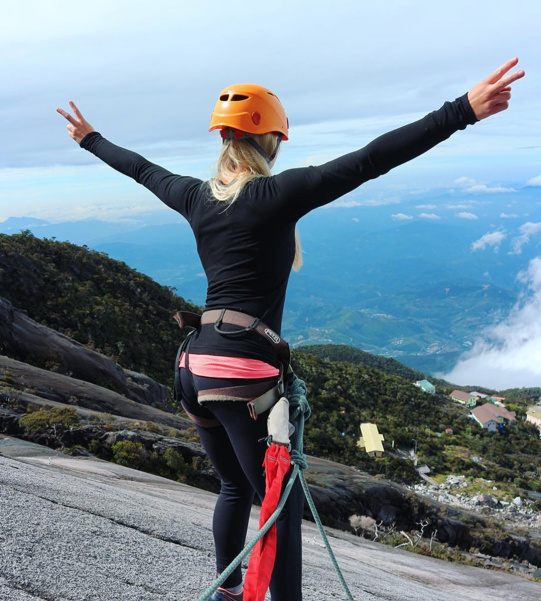 Hanging off  Mt. Kinabalu - Malaysia