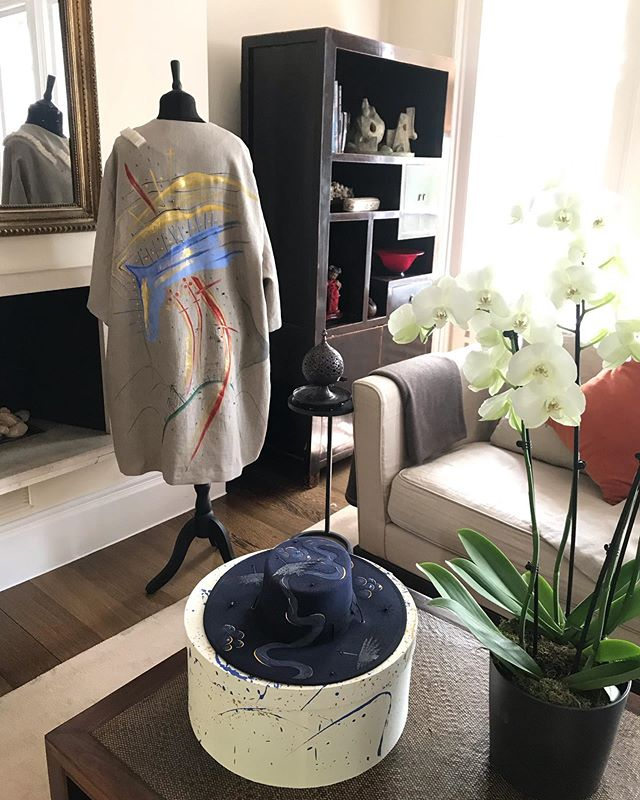 Coats in this beautiful surroundings @dinakemal #artistclothes #wearablecanvases #hautecouture