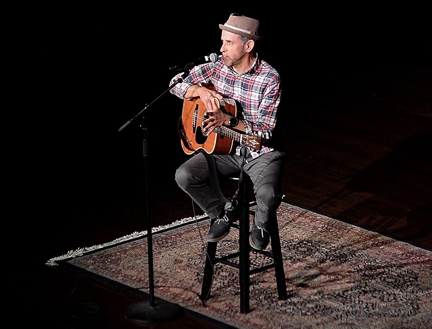 """One of the Storytellers for trueHEROIN at Memorial Hall October 25, 2018.  Telling my story and singing the song """"Stigma"""" from my upcoming musical."""""""