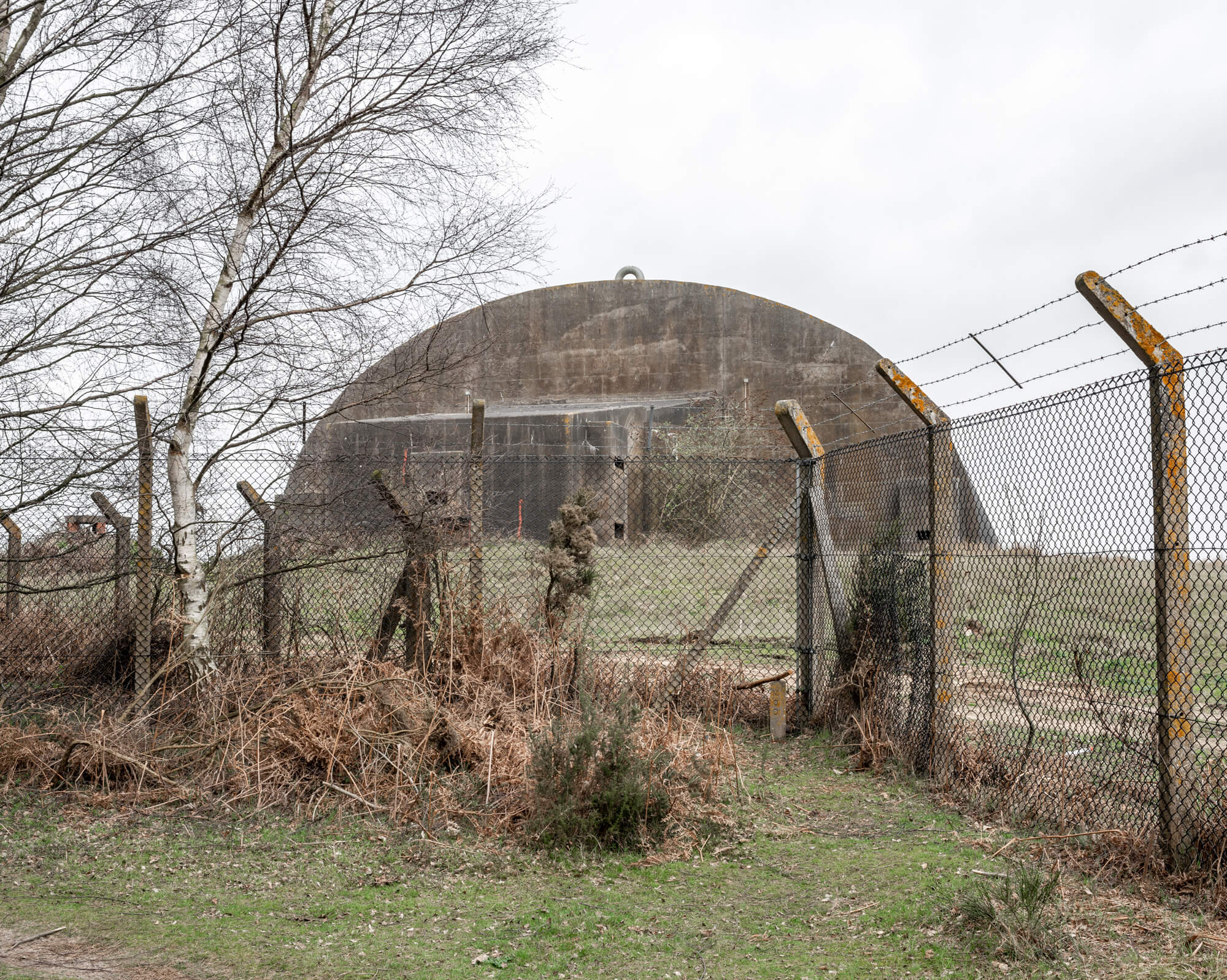 Disused USAF bunkers dating back to the Cold War. RAF Woodbridge and its sister base RAF Bentwaters supposedly stored American nuclear weapons during the Cold War.