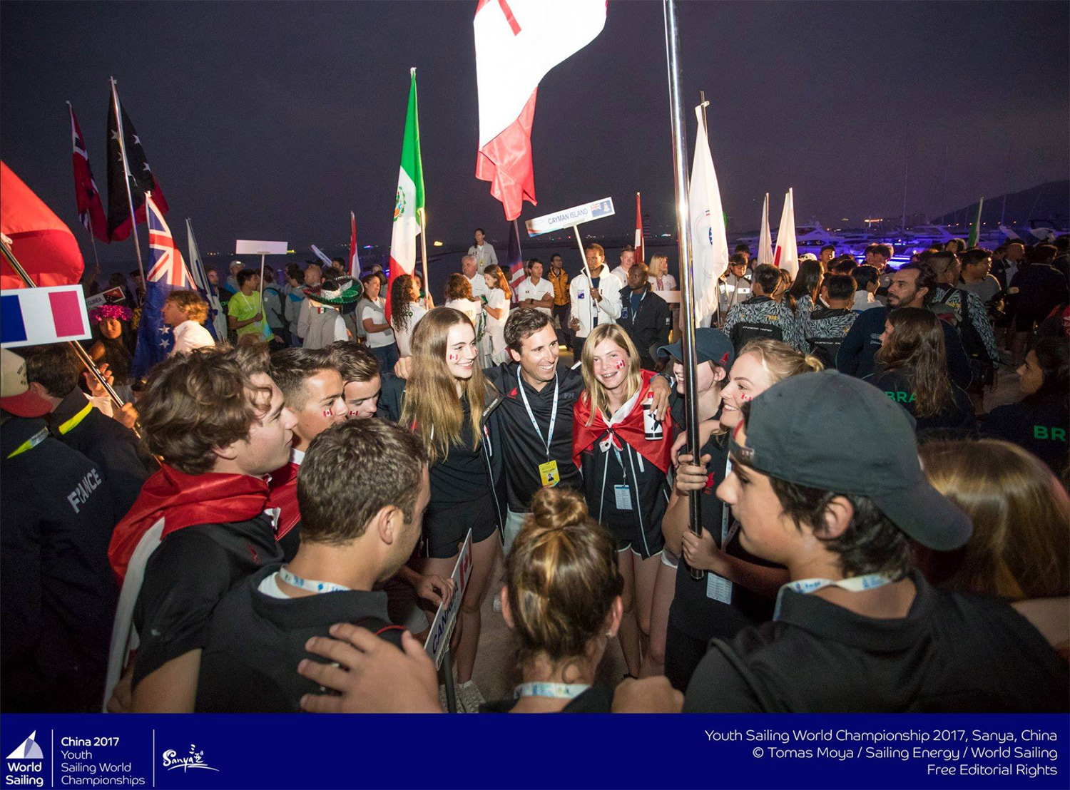 Opening Ceremonies at ISAF Youth Worlds in Sanya, China (December 2017)