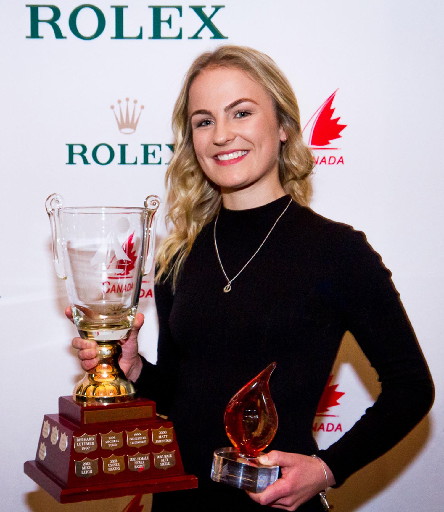 SAIL CANADA – Bill Burk Youth Elite Memorial Award for sailing achievements in 2016 (February 2017)
