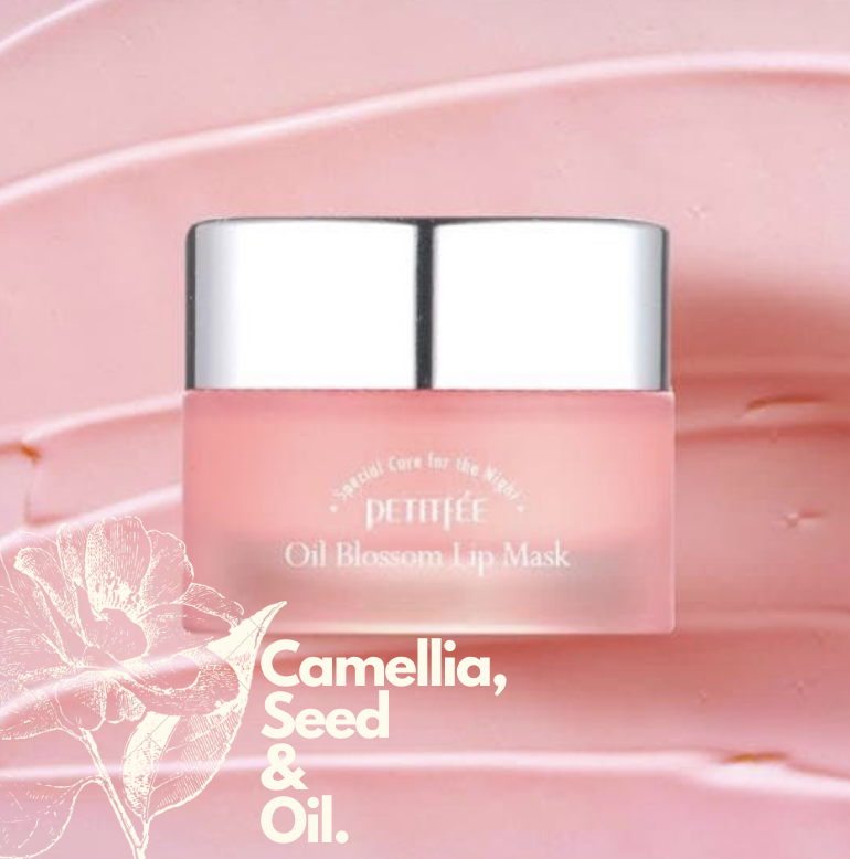 [REVIEW] PETITFEE Oil Blossom Lip Mask, Camellia Seed Oil (Before and After)