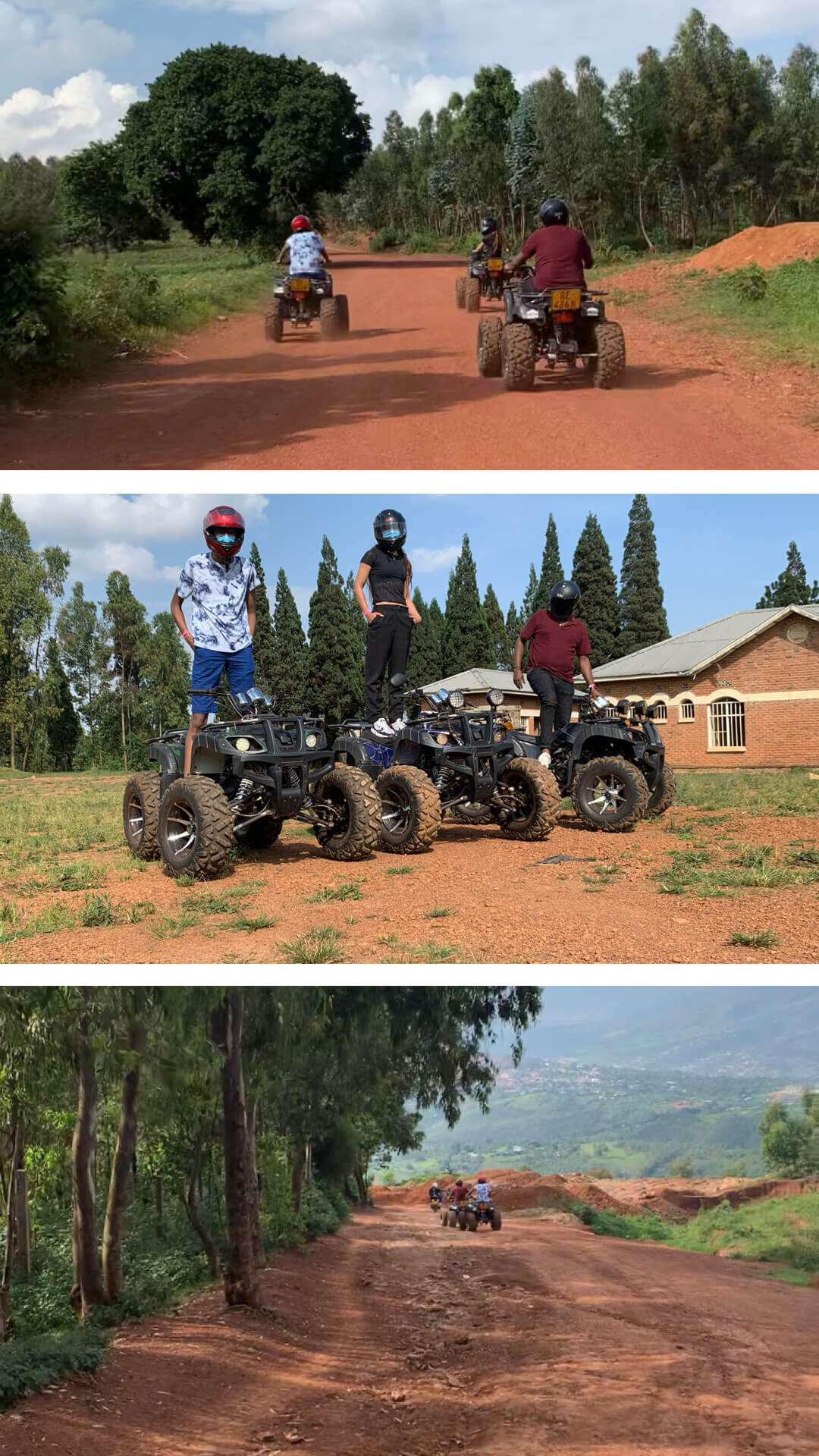 14.Drive an ATV on the hill of MT. KIGALI
