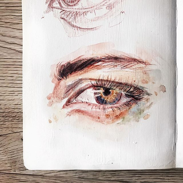 This might be a weird thing to say and I'd love to know if you guys can relate- I've always strayed away from drawing eyes because they're such a 'typical' thing to draw. You see drawings of eyes everywhere. And they all look amazing! Eyes are so fascinating, there's so much to them and so much you can do with them. But I was put off because I didn't want my eye drawings to just be another one in the sea of millions. I think I'm past that way of thinking now. I'm embracing just drawing what I want to draw. Besides, there's a reason people draw eyes so much. Just look at them! 👁 ⠀ ⠀ Side note- this is THE CREEPIEST emoji. 👁👁👁 I cant be the only that thinks that right??⠀ ⠀ .⠀ .⠀ .⠀ .⠀ .⠀ .⠀ .⠀ ⠀ #Art #painting #illustration #eye #eyedrawing #eyepainting #sketchbook #moleskine #watercolor