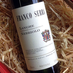 Franco Serra Nebbiolo 2016 - Pungent dried fruit and herbal aromas. Dry and medium-full bodied with robust tannin's, bright acidity and pretty red fruits.Food Pairings : Excellent with aged cheeses, rich stews and full- flavored meats$14.99