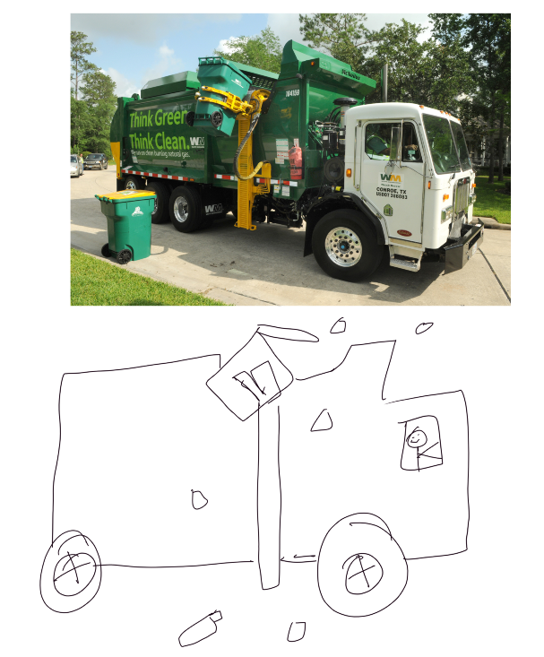 Trash truck photo by the city of Austin