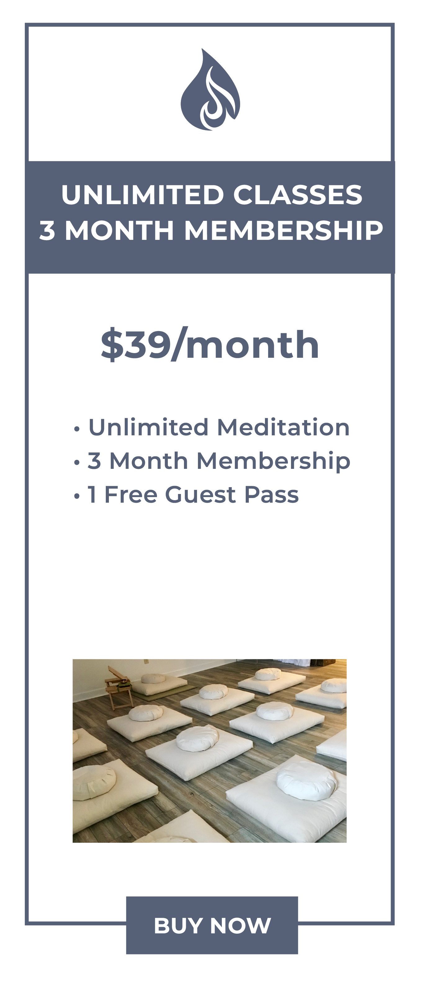 3 Month Meditation Membership in Canton, MA