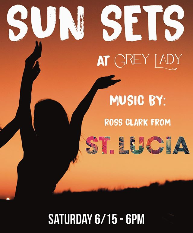 SUN SETS 🎶🎸💃Come dance with @young_strum from @stlucia today at sunset #GreyLadyMTK