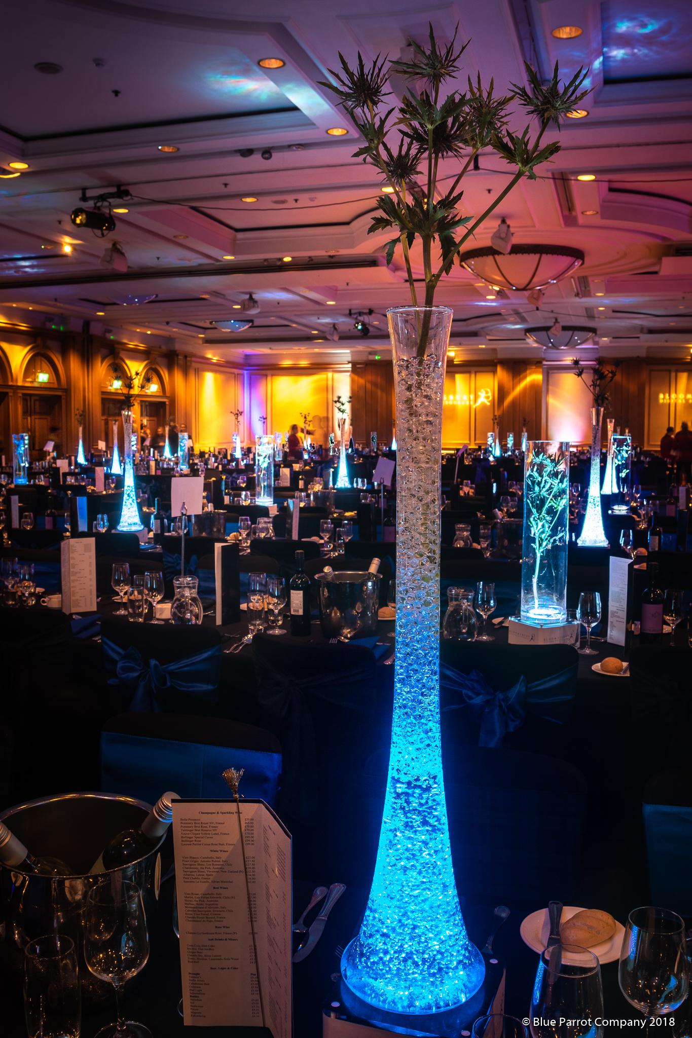 Lily Vases at Hilton Glasgow