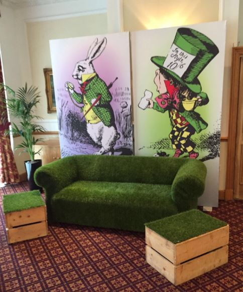 Alice lit panels and Grass Furniture