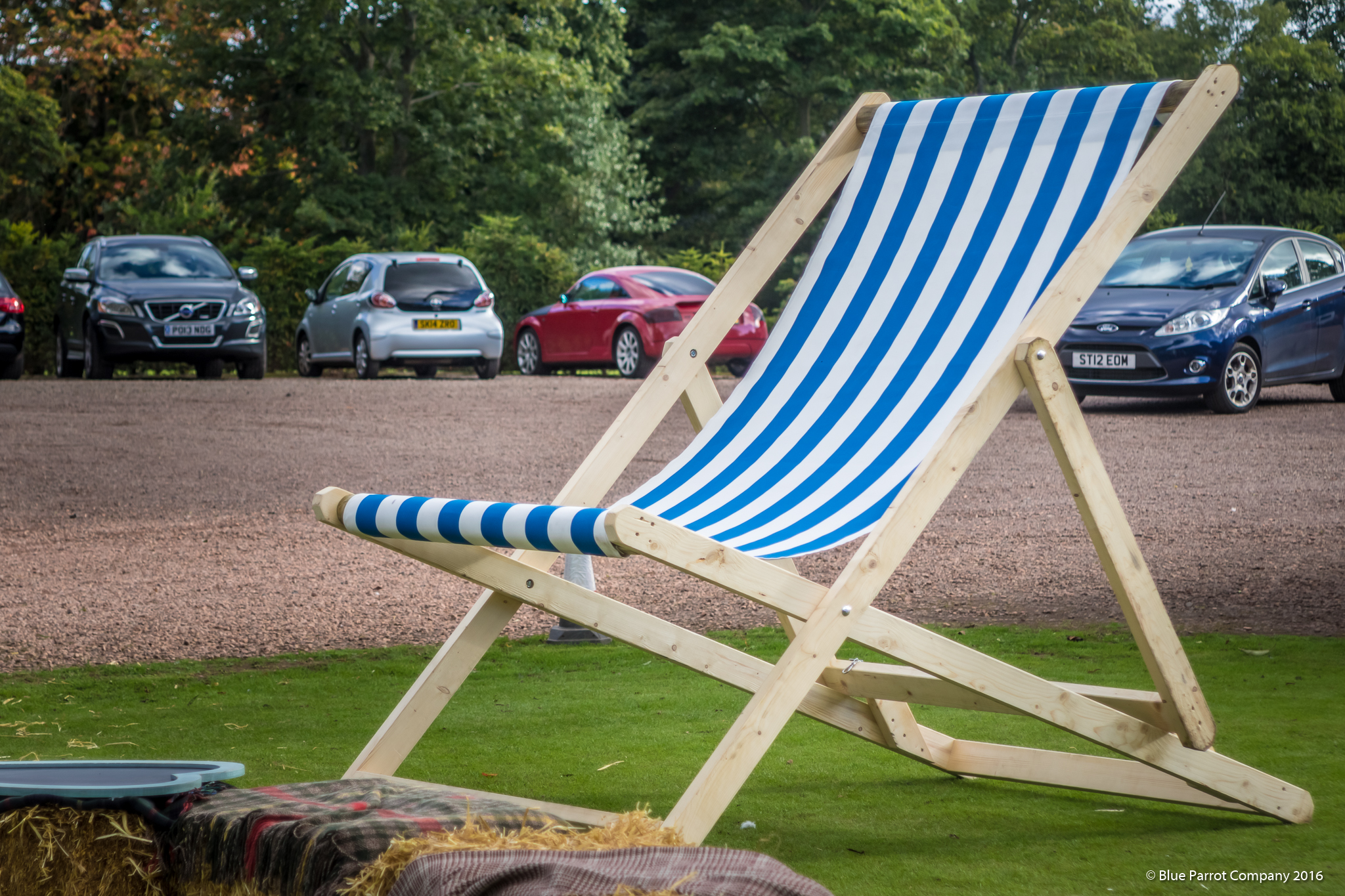 Striped Giant Deck Chair