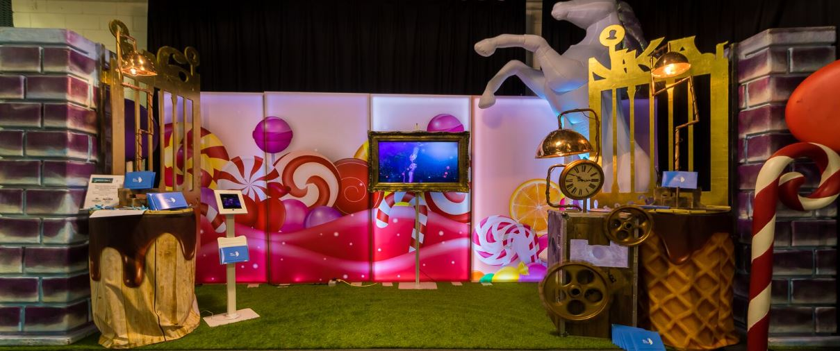 Candy themed light panels