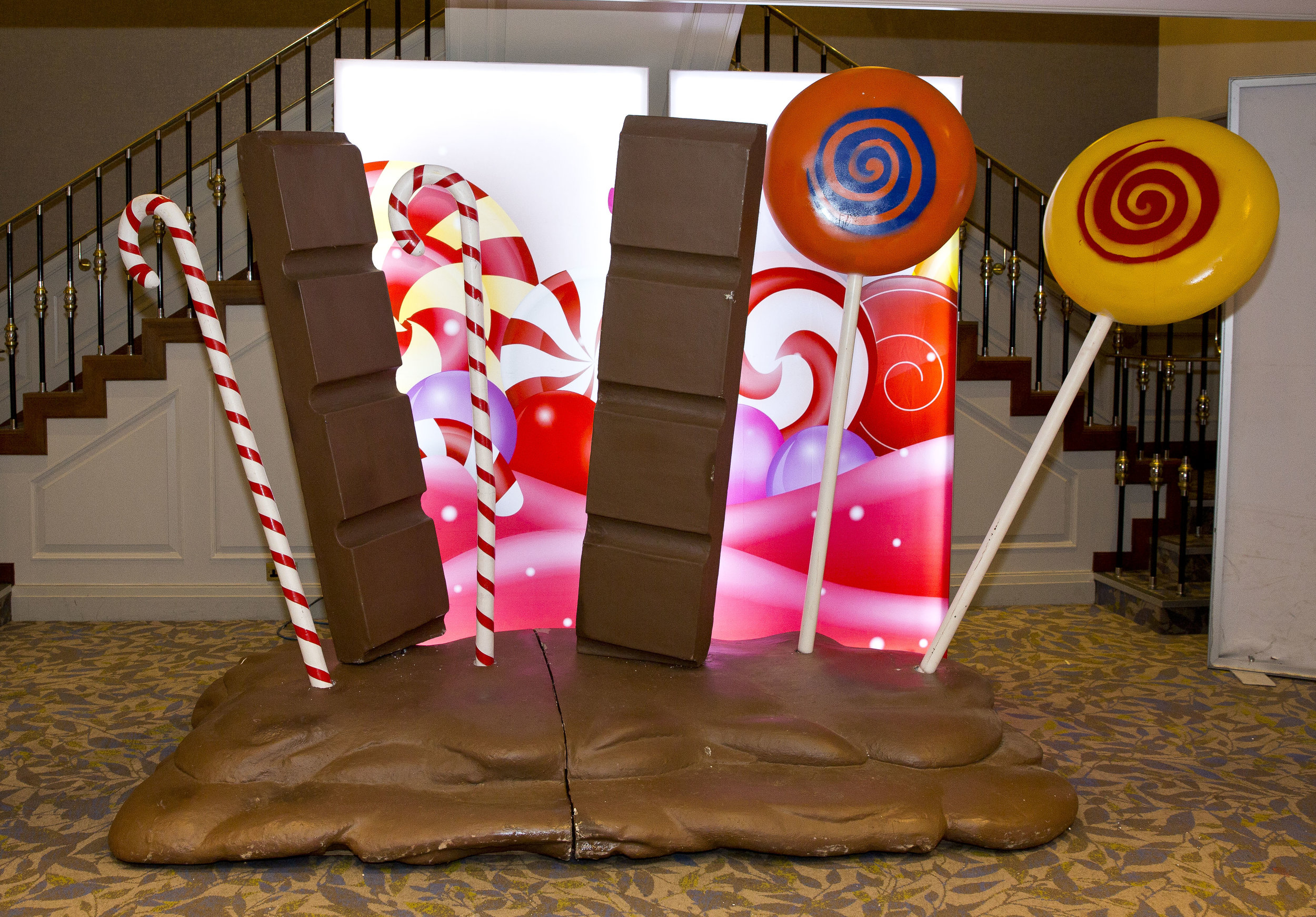 Chocolate themed props