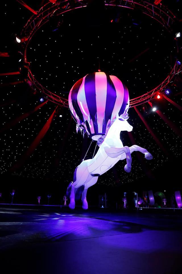 Inflatable Unicorn and Balloon