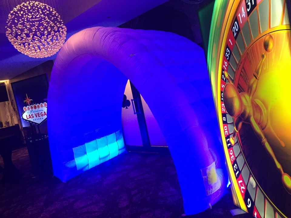 LED archway and casino light panels