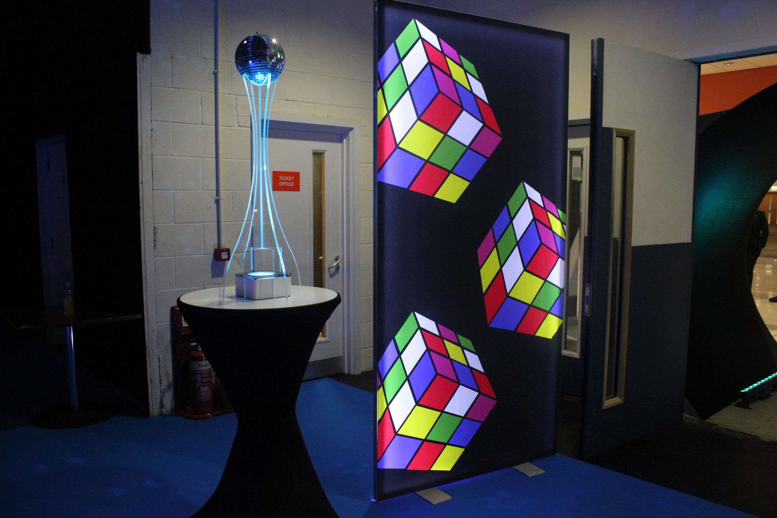Rubik's cube light panels