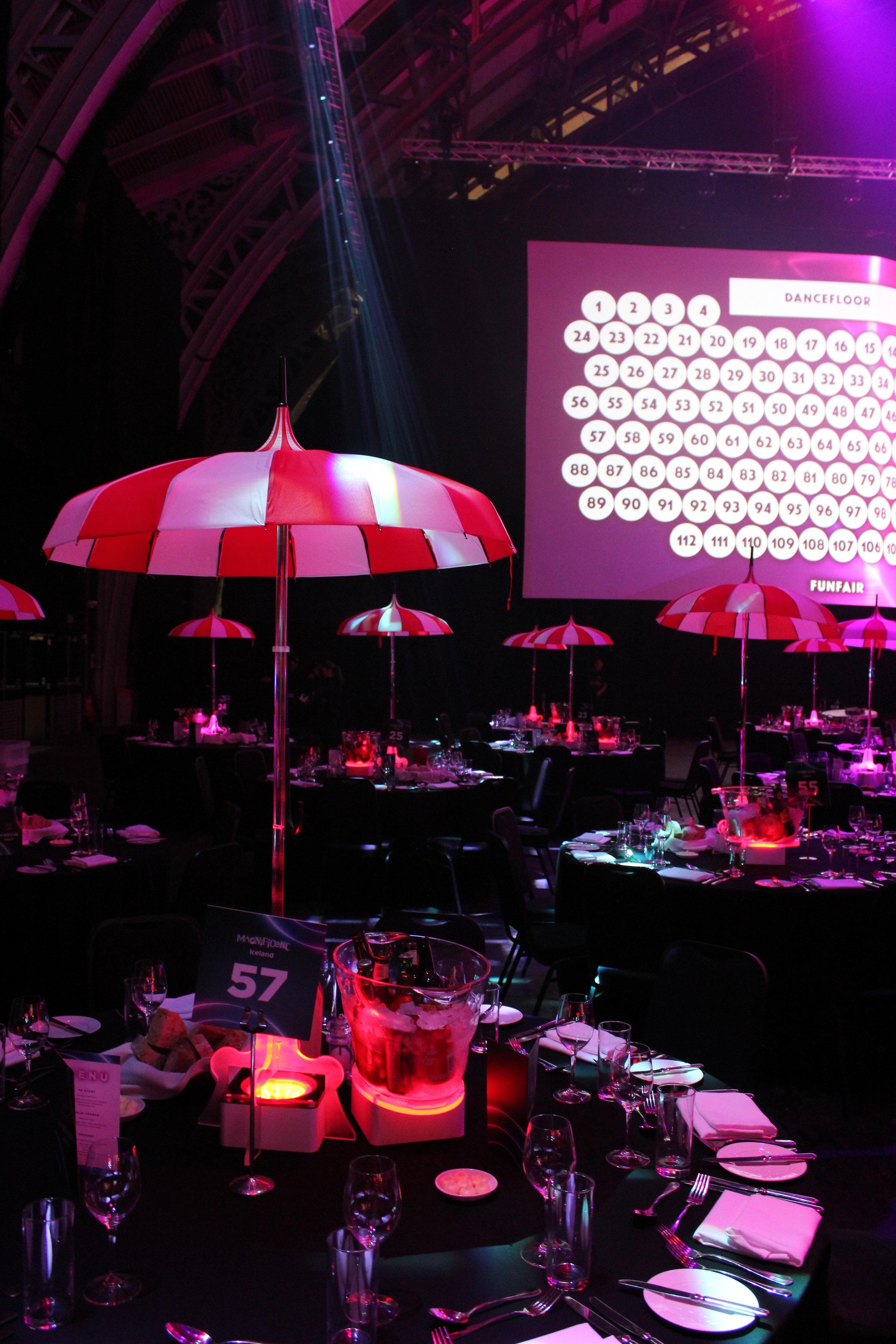 Circus Parasol Table Centre