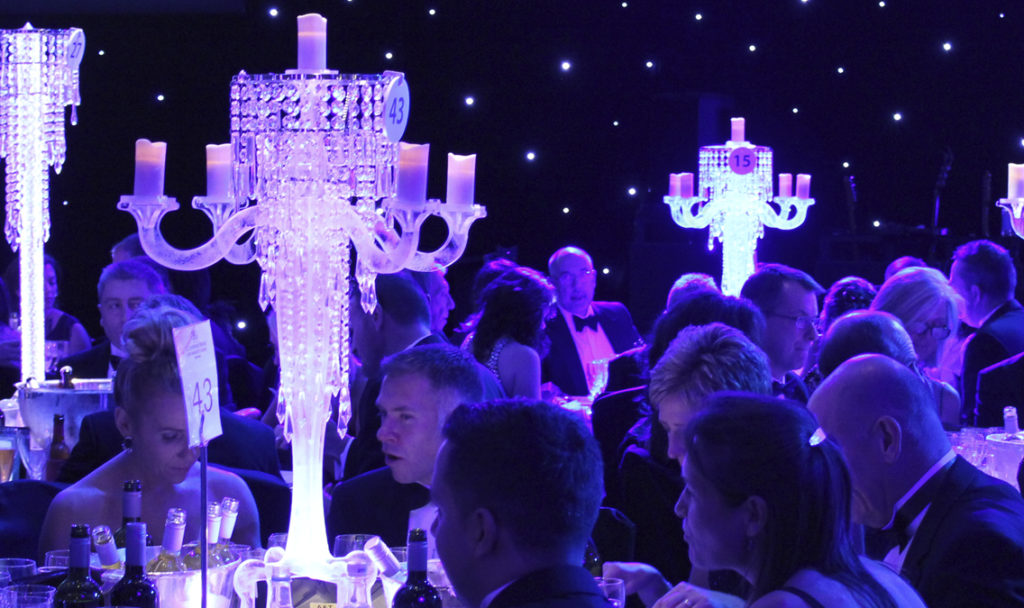 Candelabra Crystal Table Centre