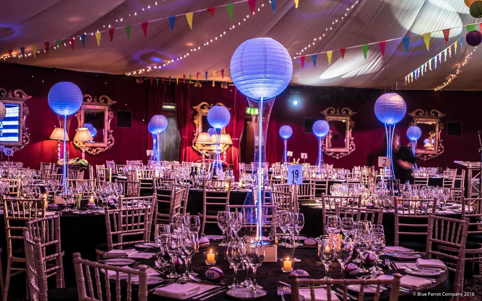 Festival Lantern Table Centres at Prestonfield