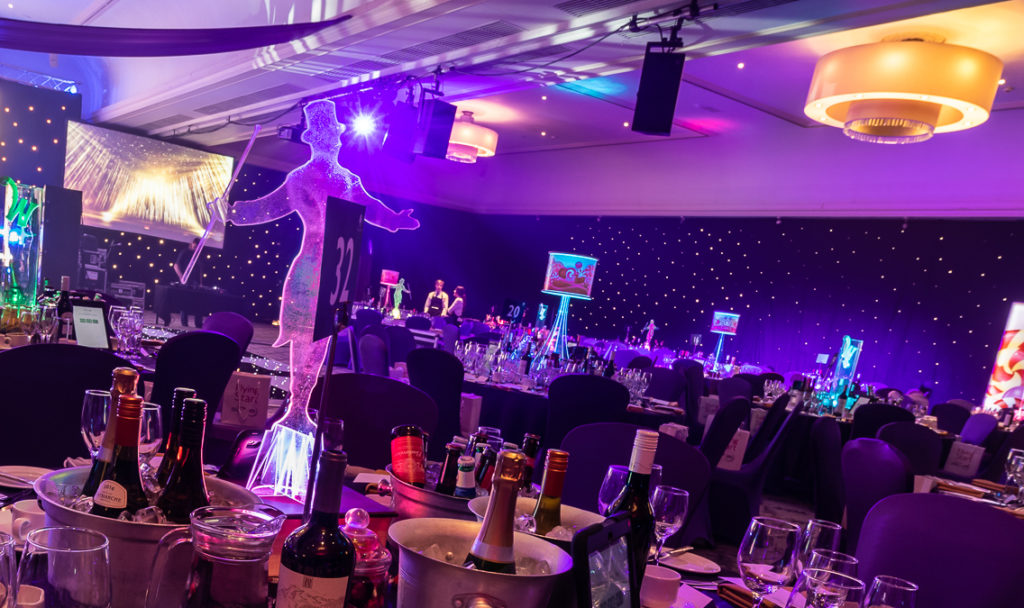 Circus table centre at Doubletree by Hilton Glasgow