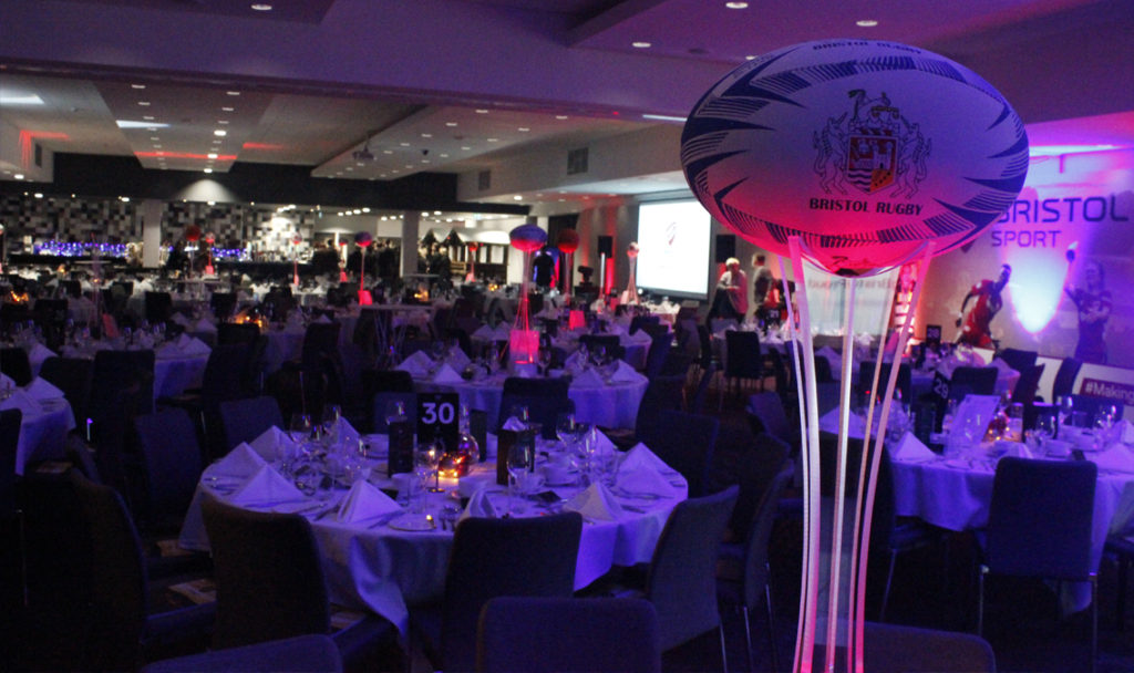 Rugby Stand Table Centres