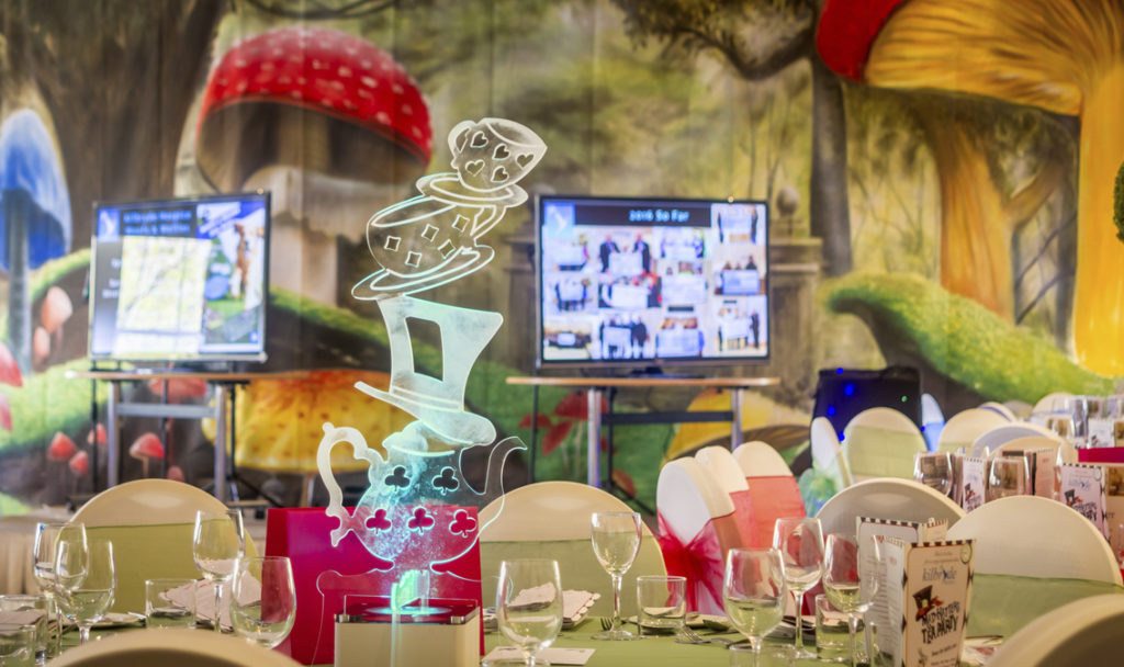 Mad Hatter table Centres