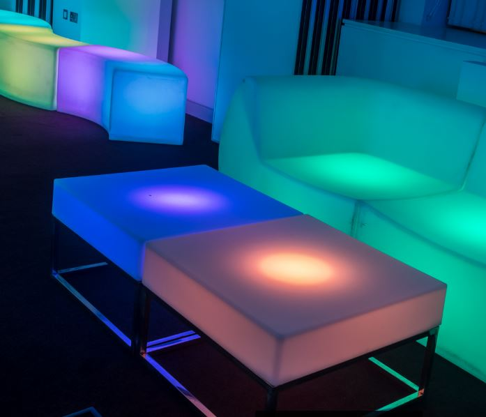 LED Low Level Coffee Tables